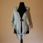 C041 Cotton Triangle Shawl with Tassels