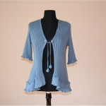 C048 Cotton Cardi and Bottom Frill Elbow Length