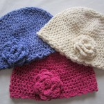 C059 Crochet Cotton  Bamboo Funky Beanie  Rose
